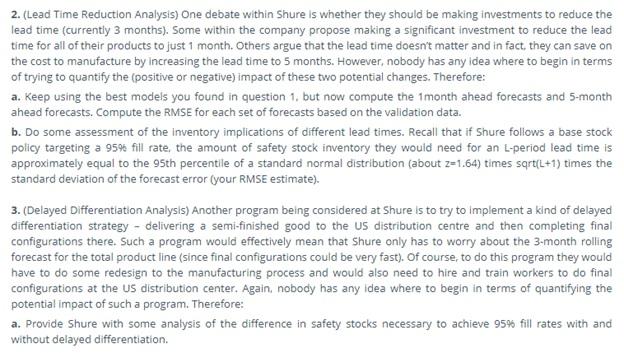 safety stock assessment task
