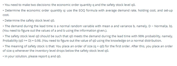 safety stock assessment help