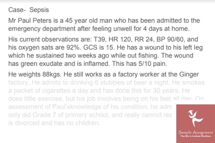 sepsis nursing assignment help