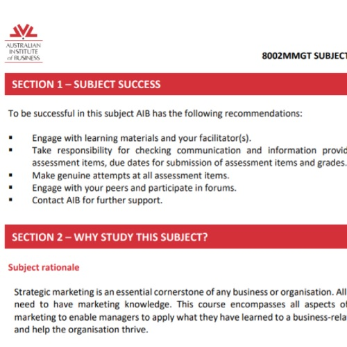 service marketing strategy assignment