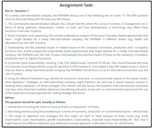 social innovation assignment question