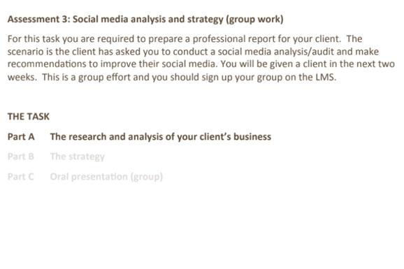 social media assignment help