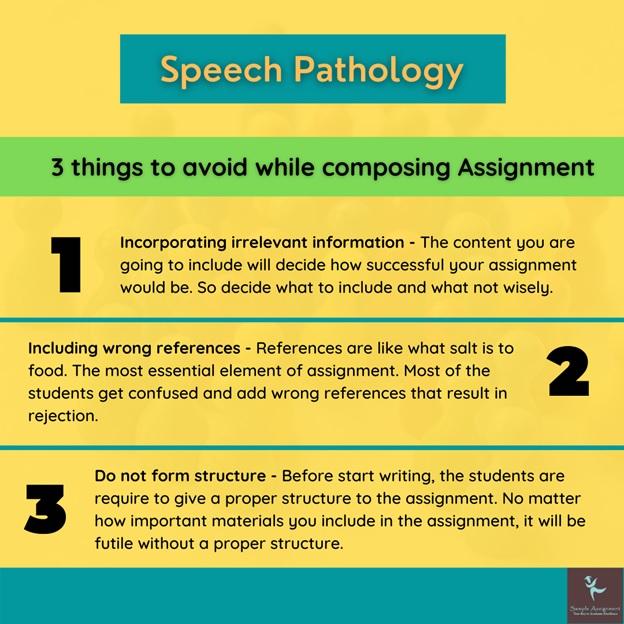 speech pathology assignment help