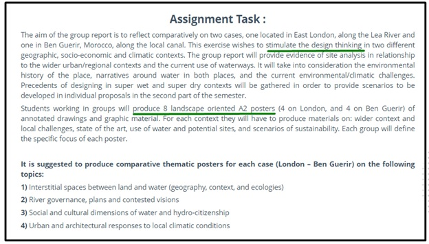 sustainability assignment task