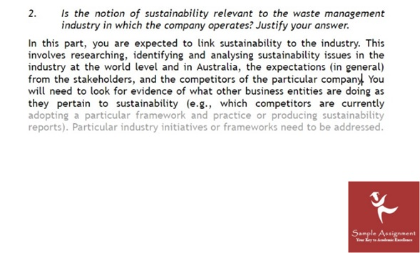 sustainability management assignment sample online
