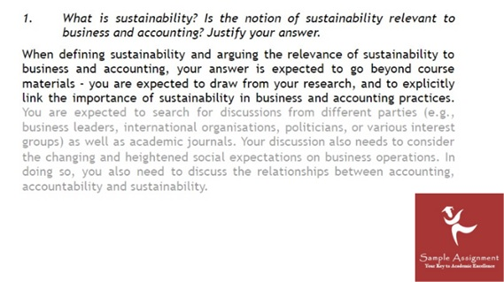 sustainability management assignment sample