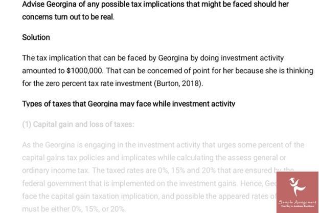 tax adjustment assignment answer