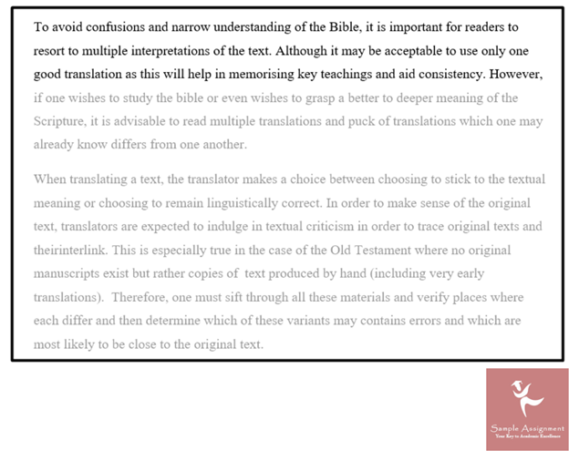 theology assignment example
