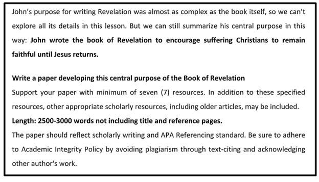 theology assignment sample