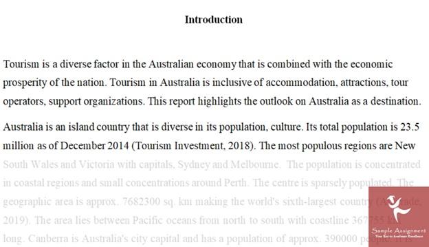 Tourism Project Management Assignment Help Australia
