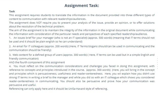 university of south australia assignment help