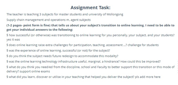 wollongong university assignment