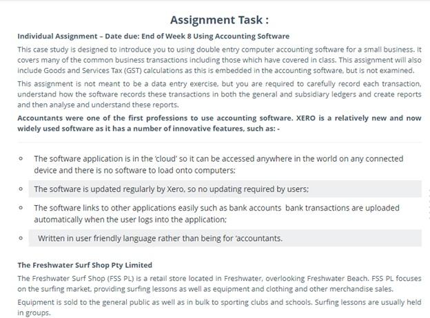 xero assessment task help