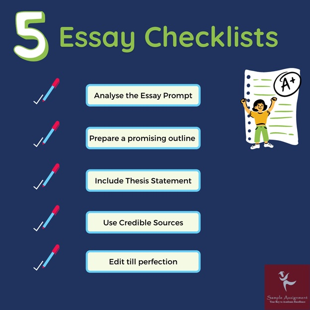 5 essay checklists