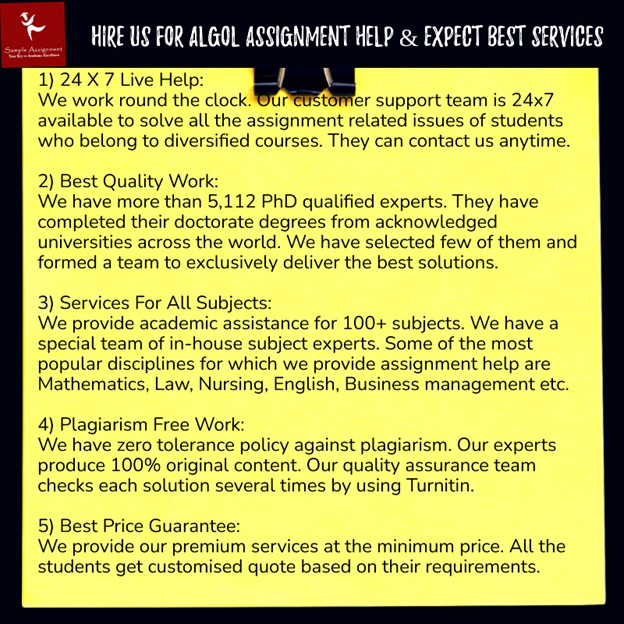 algol assignment help service