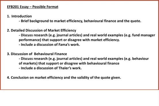 behavioral finance homework format