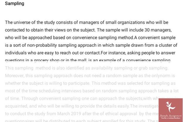 business dissertation sample online