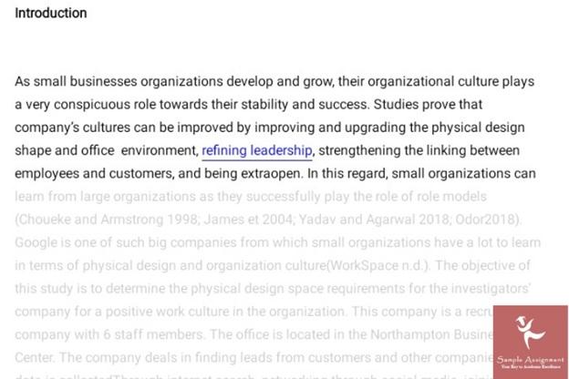 business dissertation sample