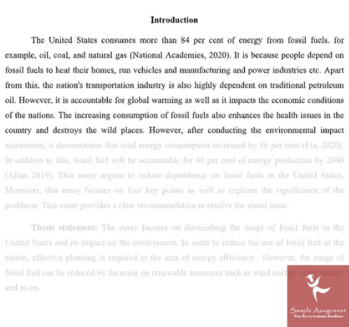 story writing sample online