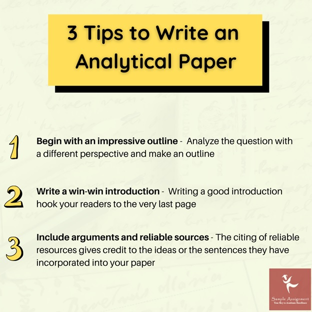 write analytical paper
