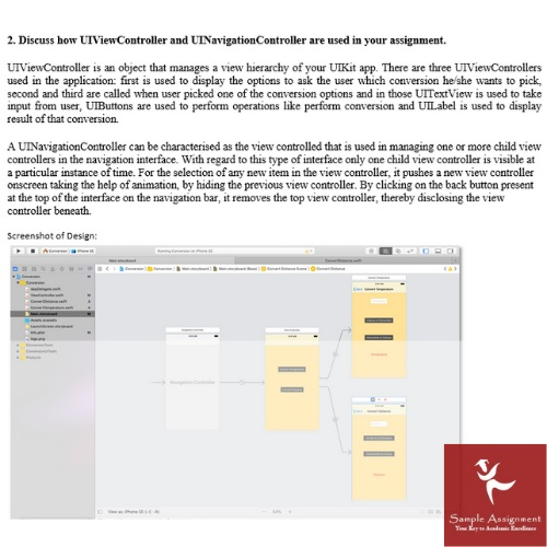 android app assignment sample online UK