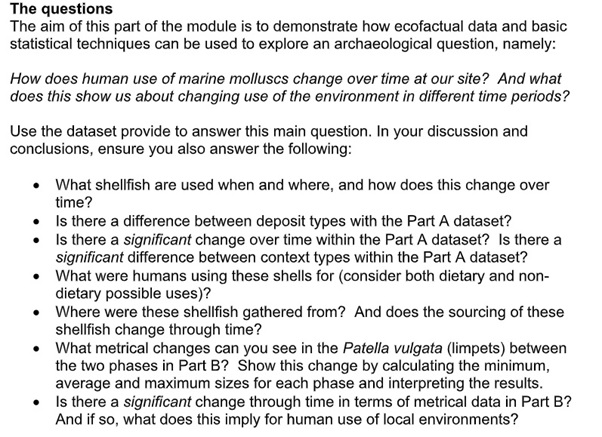 archaeology assignment question uk