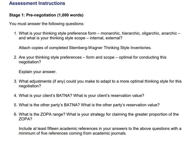 assessment question on manage conflict