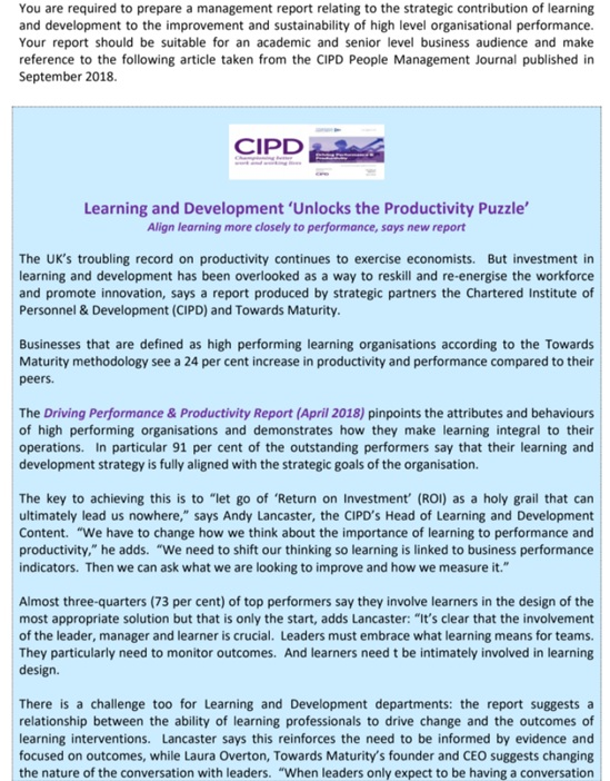 assignment sample on cipd