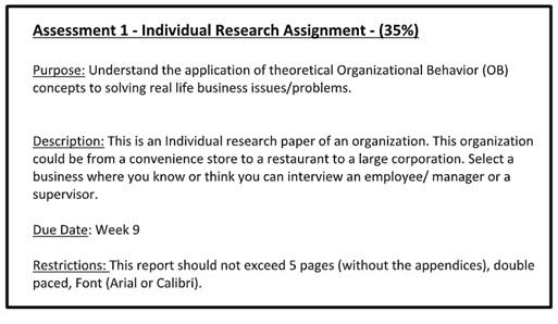 behavior management assignment answer