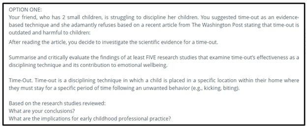 behavior management assignment help