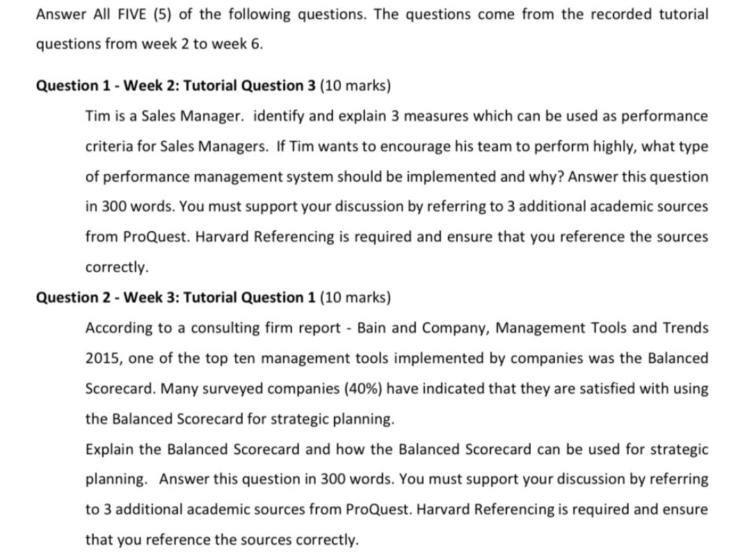 benchmarking assignment sample