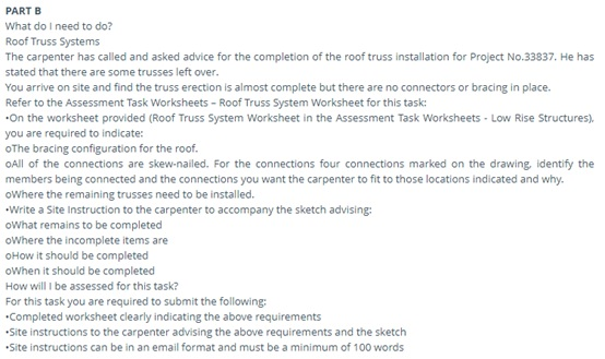 building contruction assignment question sample