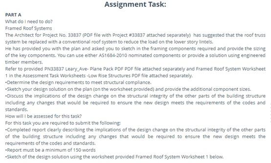 building contruction assignment question