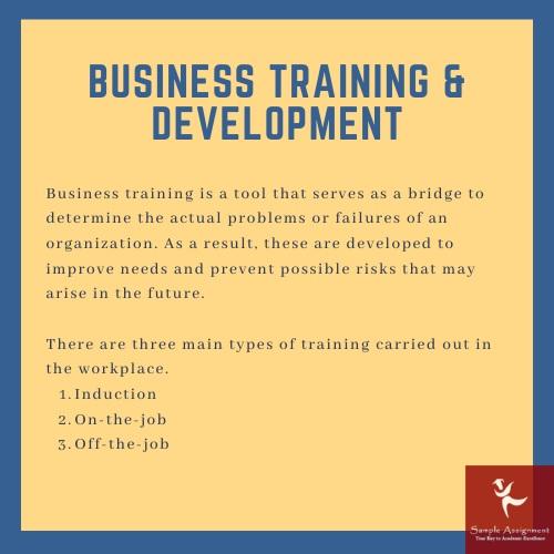 business training and development