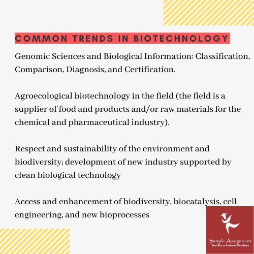 common trends in biotechnology
