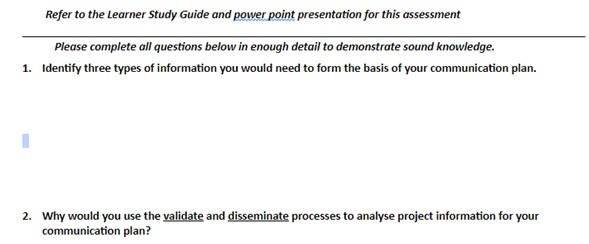 communication management assignment question