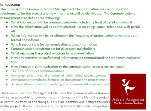 communication management assignment sample