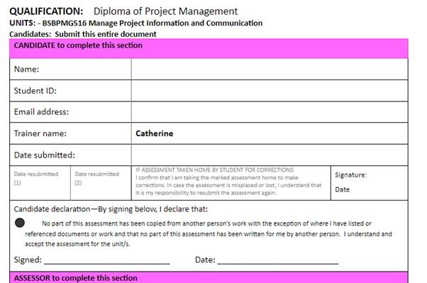 communication management question