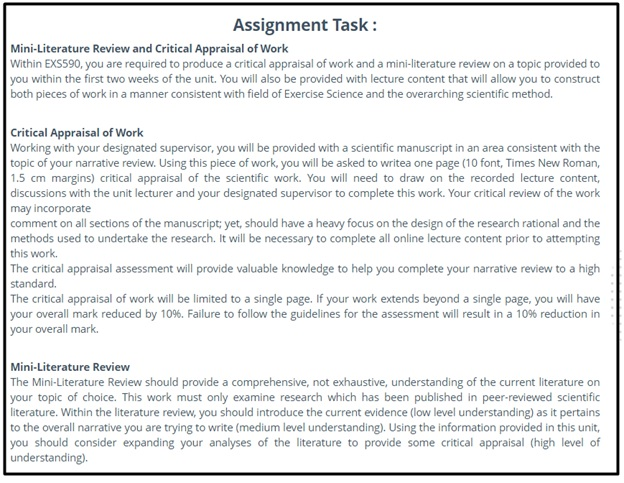 critical review assignment solution