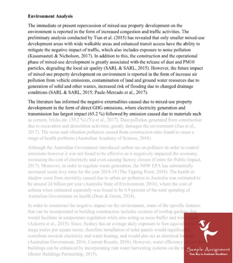 environmental studies dissertation sample uk