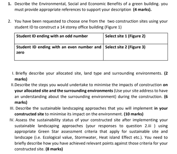 environmental sustainability assignment question
