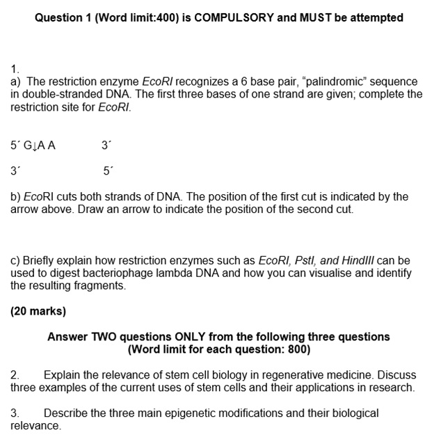 enzyme assignment question