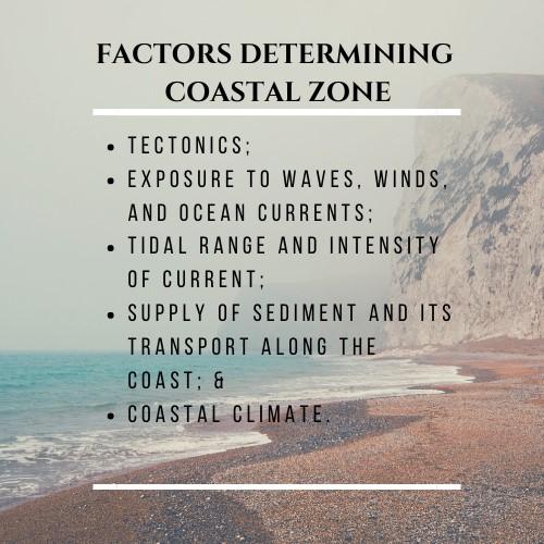 factors determining coastal zone