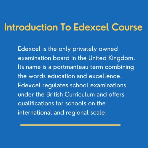 introduction to Edexcel course