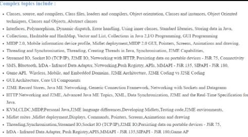 j2me assignment topics