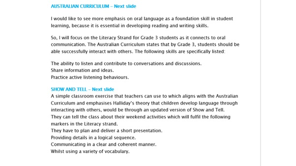literacy strategies assignment sample online