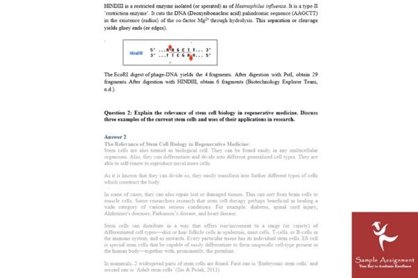 molecular medicine assignment solution