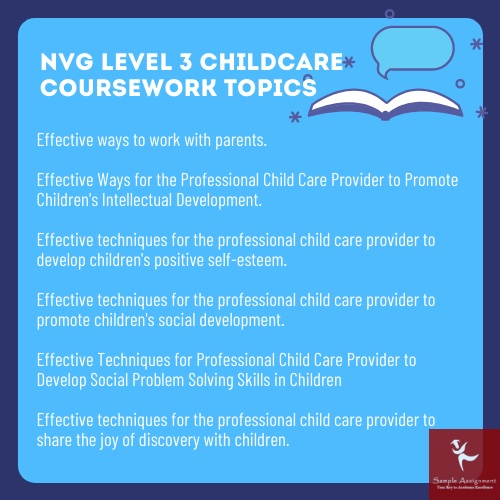 nvg level 3 childcare coursework