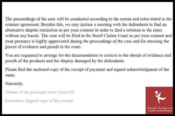 paralegal assignment sample online