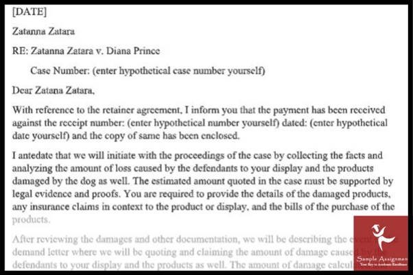 paralegal assignment sample